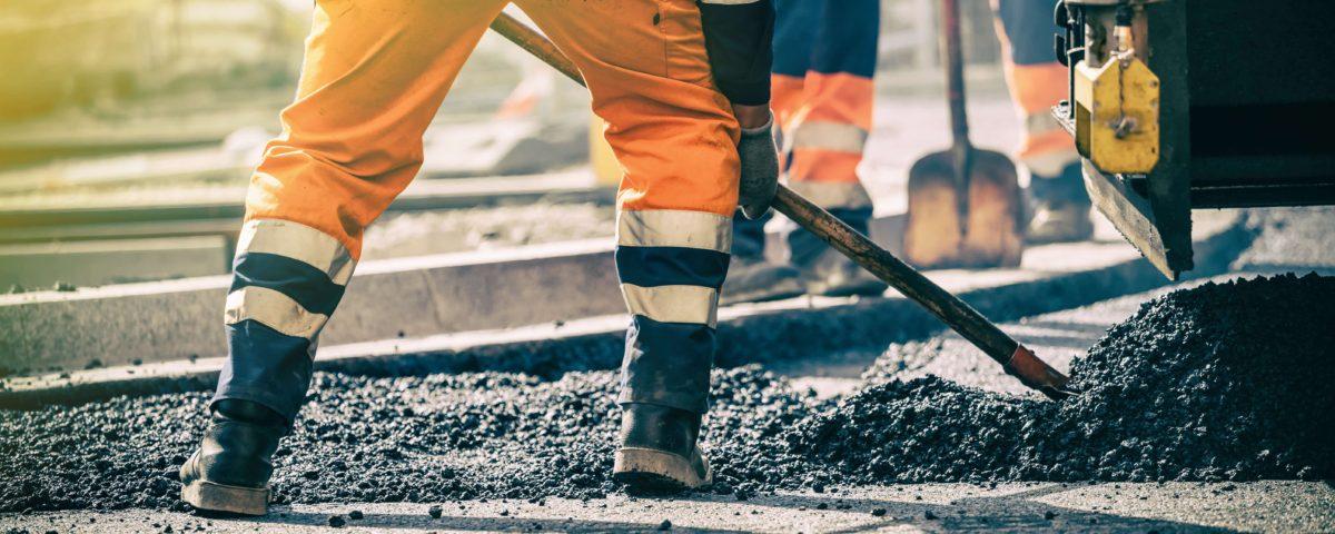 Hamburg Straßenbau - Teerarbeiten